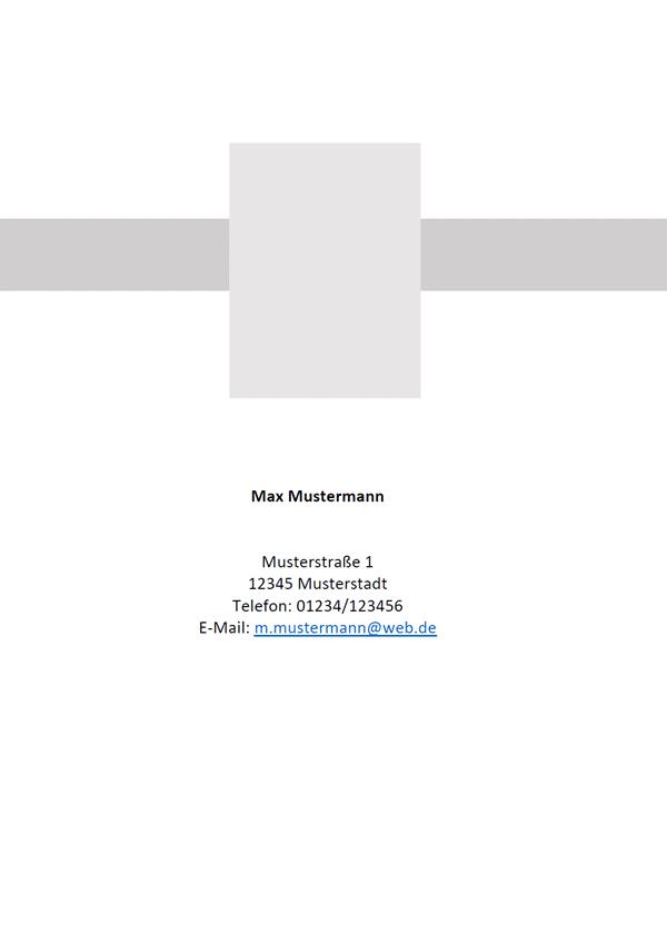 Deckblatt Muster Word