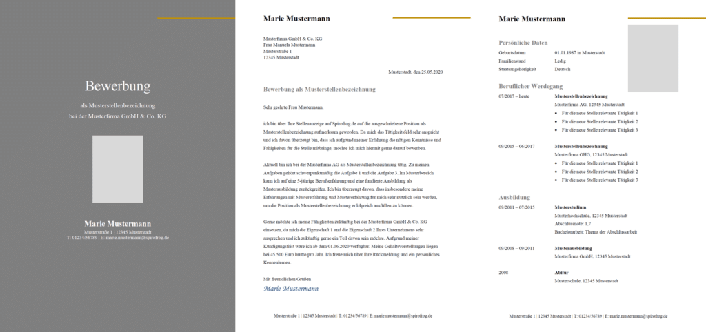 Vorlage / Muster: Bewerbung Design-Vorlage 7
