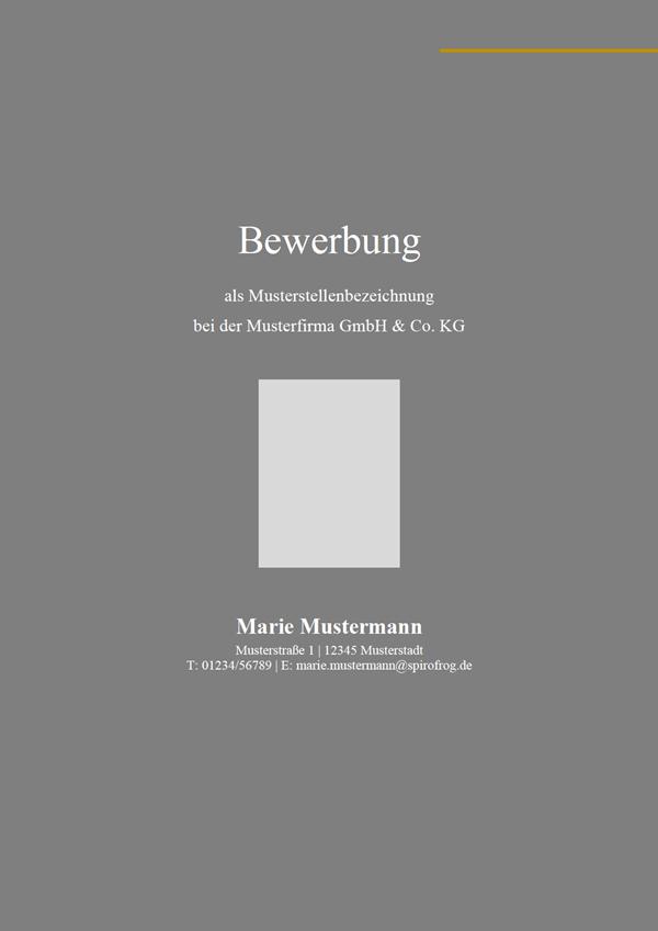 Vorlage / Muster: Deckblatt Design-Vorlage 7