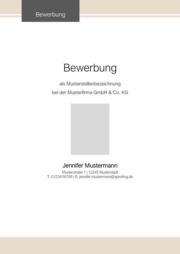 Vorlage / Muster: Bewerbungsdeckblatt-Vorlage 2020