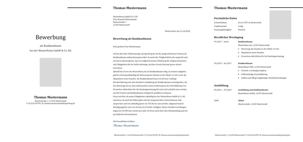 Vorlage / Muster: Bewerbung Bankkaufmann / Bankkauffrau