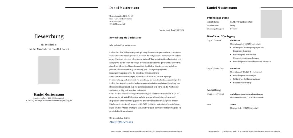 Vorlage / Muster: Bewerbung Buchhalter / Buchhalterin