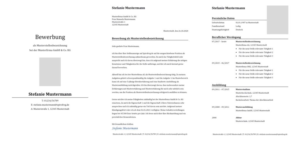 Vorlage / Muster: Bewerbung klassisch