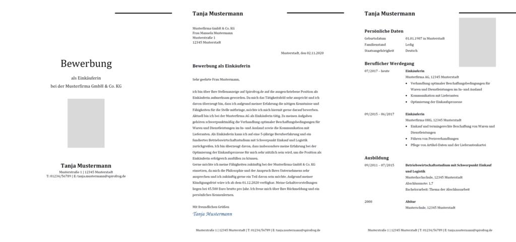 Vorlage / Muster: Bewerbung Einkäufer / Einkäuferin
