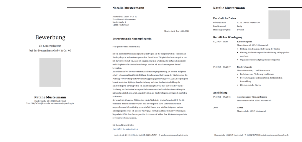 Vorlage / Muster: Bewerbung Kinderpfleger / Kinderpflegerin